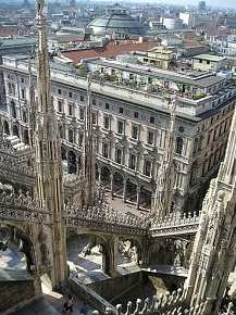 Milan - view from Cathedral